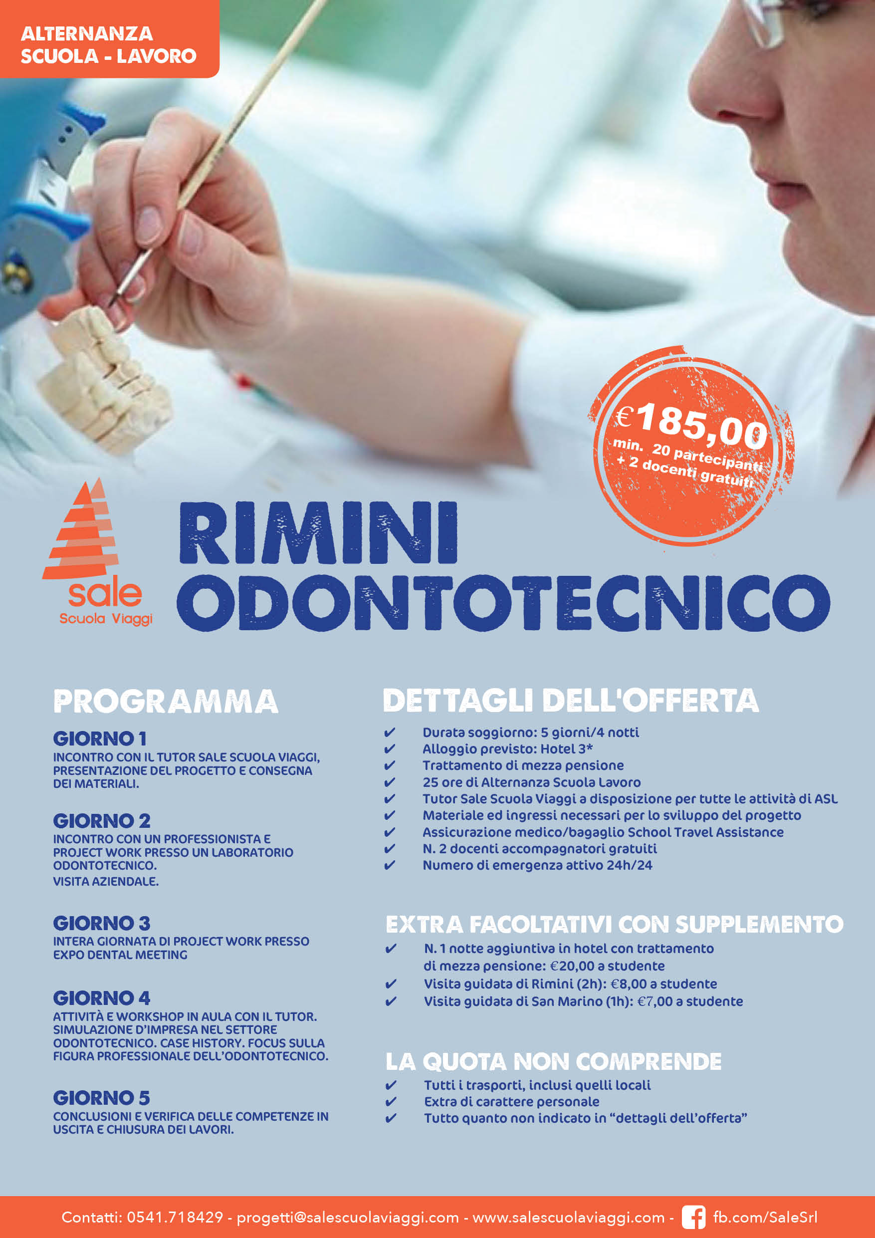 Offerta Odontotecnico Rimini - Sale Scuola Viaggi