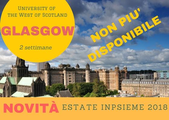 Glasgow INpsieme 2018 Sale Scuola Viaggi
