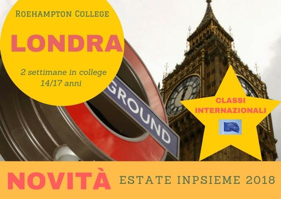 Londra ROEHAMPTON Inpsieme 2018 Sale Scuola Viaggi