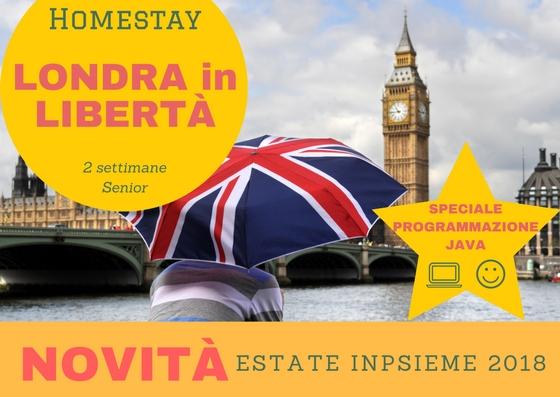 Londra in Libertà - 2 settimane in famiglia - Estate INPSieme 2018 ...