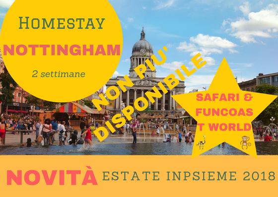 Nottingham Homestay Inpsieme 2018 sale scuola viaggi