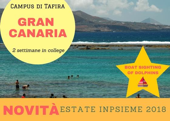 Gran Canaria inpsieme 2018 sale scuola viaggi