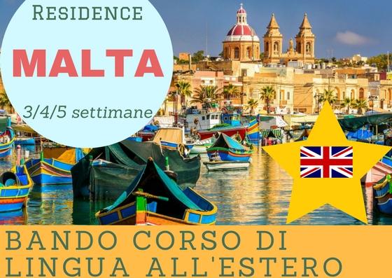 Malta Residence Bando corso di lingua all'estero Sale Scuola Viaggi