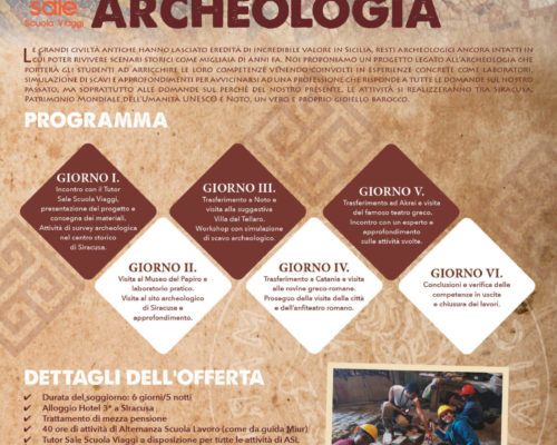 Offerta SiciliaArcheologia - Sale Scuola Viaggi