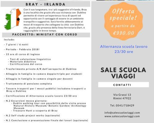 Offerta Bray Corso di Lingua ASL Sale Scuola Viaggi