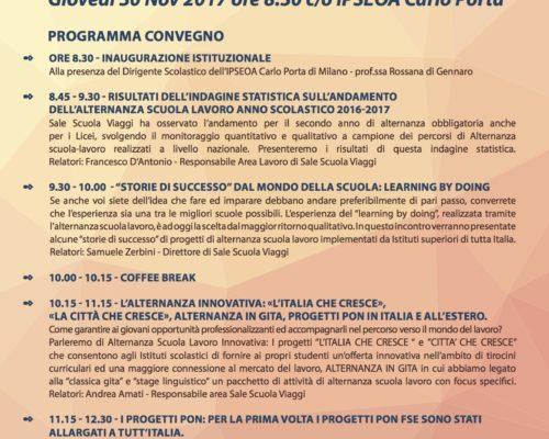 Convegno Milano: l'Alternanza Positiva Sale Scuola Viaggi