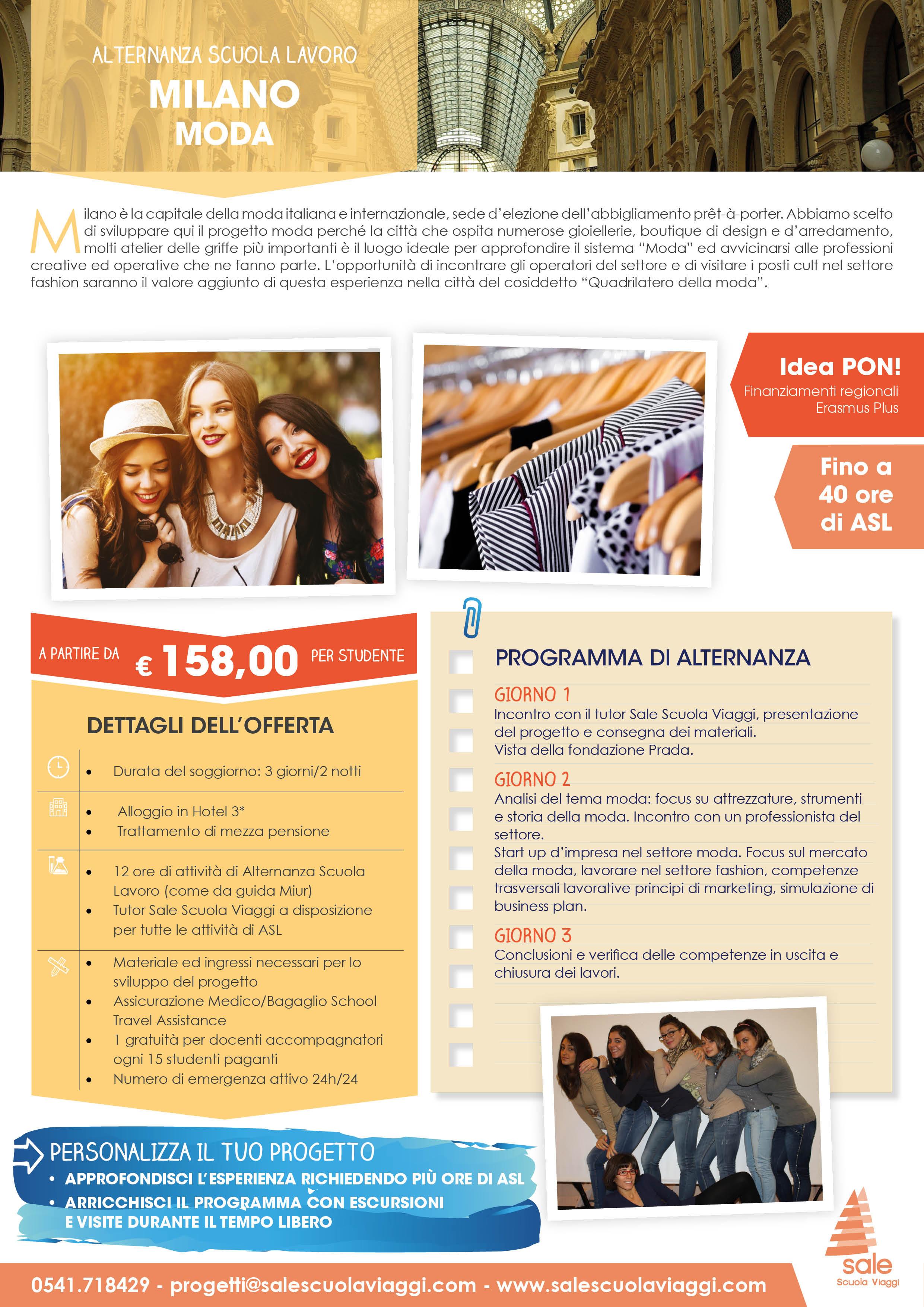 Milano moda alternanza in gita sale scuola viaggi for Scuola superiore moda milano