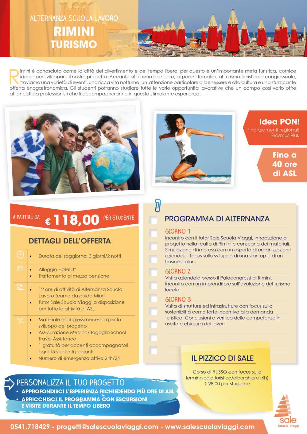 Rimini Turismo - Alternanza in Gita - Sale Scuola Viaggi