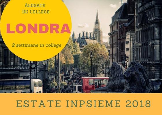 Londra Aldgate Inpsieme 2018 sale scuola viaggi
