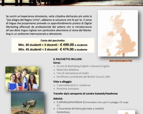 offerta corso di lingua bournemouth settembre 2018 sale scuola viaggi