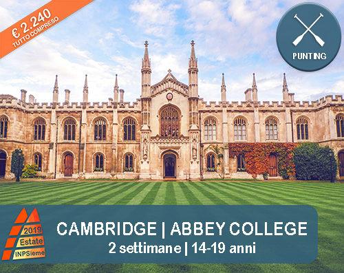 Cambridge Estate INPSieme 2019 Sale Scuola Viaggi destinazione estero
