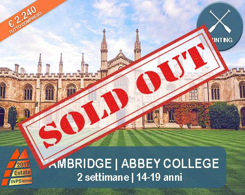 Cambridge Estate INPSieme 2019 Sale Scuola Viaggi destinazione estero sold out