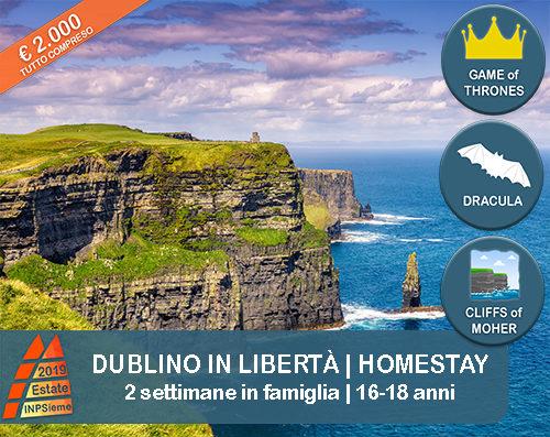 Dublino Homestay Estate INPSieme 2019 Sale Scuola Viaggi destinazione estero