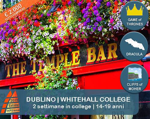 Dublino Whitehall Estate INPSieme 2019 Sale Scuola Viaggi destinazione estero