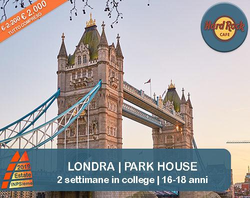 Londra Park House Estate INPSieme 2019 Sale Scuola Viaggi destinazione estero