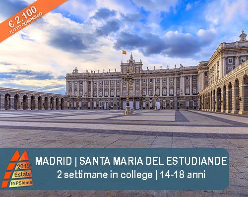 Madrid Estate INPSieme 2019 Sale Scuola Viaggi destinazione estero