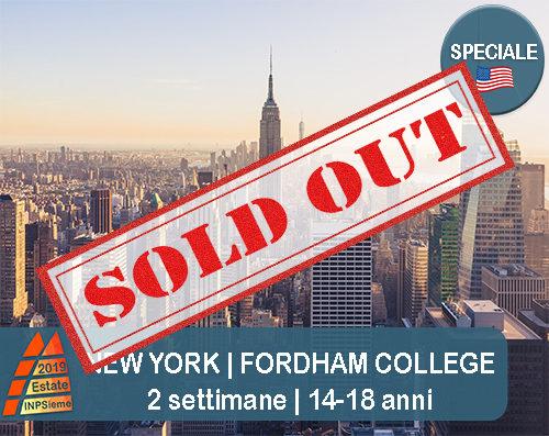 New York Estate INPSieme 2019 Sale Scuola Viaggi destinazione estero sold out