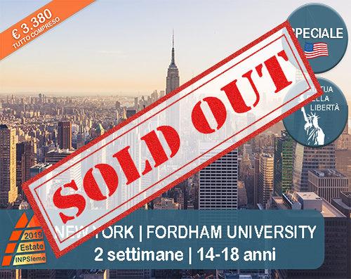 SOLD OUT New York Estate INPSieme 2019 Sale Scuola Viaggi destinazione estero