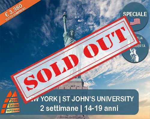 New York St John University Estate INPSieme 2019 Sale Scuola Viaggia destinazione estero sold out