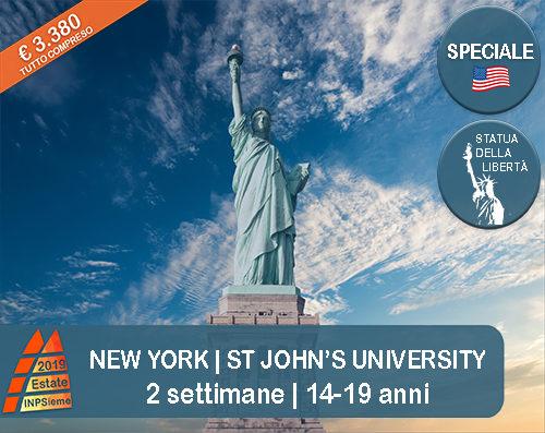 New York St John Estate INPSieme 2019 Sale Scuola Viaggi destinazione estero