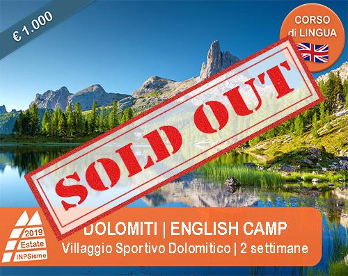 Dolomiti english camp Estate INPSieme 2019 Sale Scuola Viaggi destinazione Italia sold out
