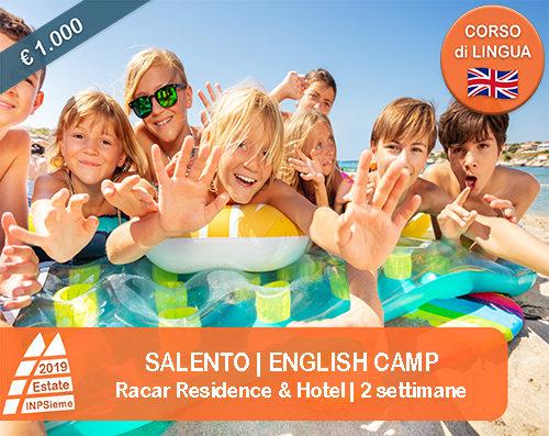 Salento English Camp Estate INPSieme 2019 Sale Scuola Viaggi destinazione Italia