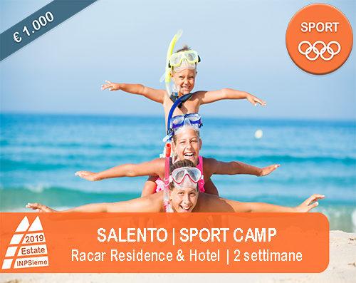Salento Sport Camp Estate INPSieme 2019 Sale Scuola Viaggi destinazione Italia